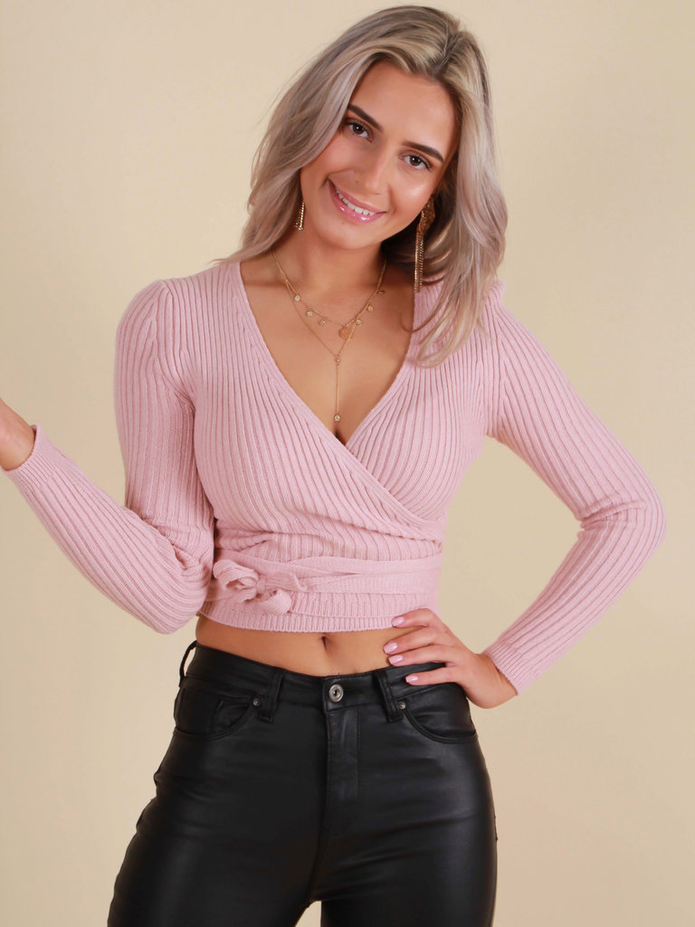 NEW COLLECTION Knitted Top Rose
