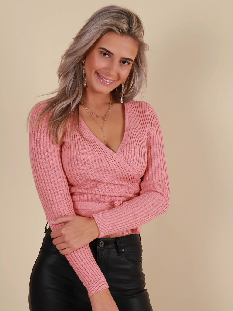 NEW COLLECTION Knitted Top Old Rose