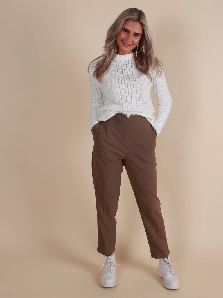CAPSULE Casual Trousers Taupe