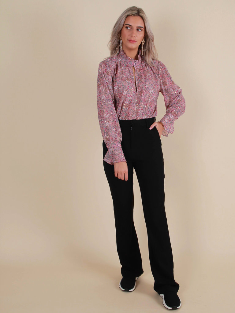 IVIVI Classic Flared Trousers Black