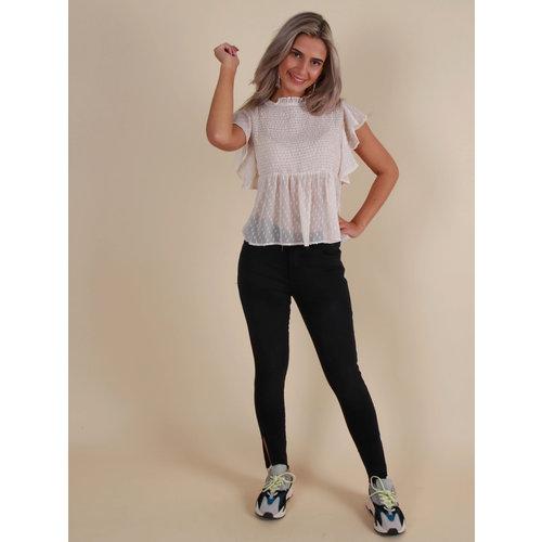 QUEEN HEARTS Skinny Jeans Open Side Black