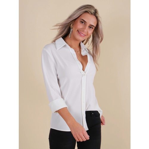 CAPSULE Basic Blouse White