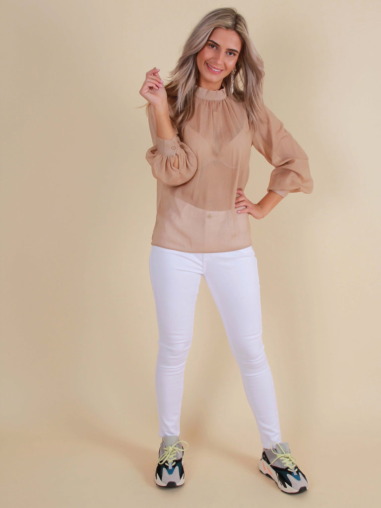 QUEEN HEARTS Skinny Jeans High Waist White