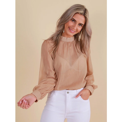 RETRO ICONE Blouse Long Sleeve Gold/Shimmer