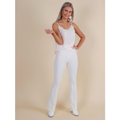 IVIVI Flared Trousers White