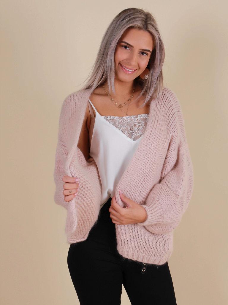 ALEXANDRE LAURENT Knitted Cardigan Rose