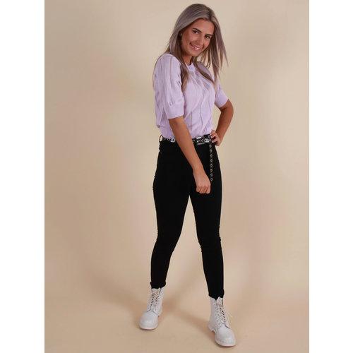 CINDY H The High Waist Jeans Black
