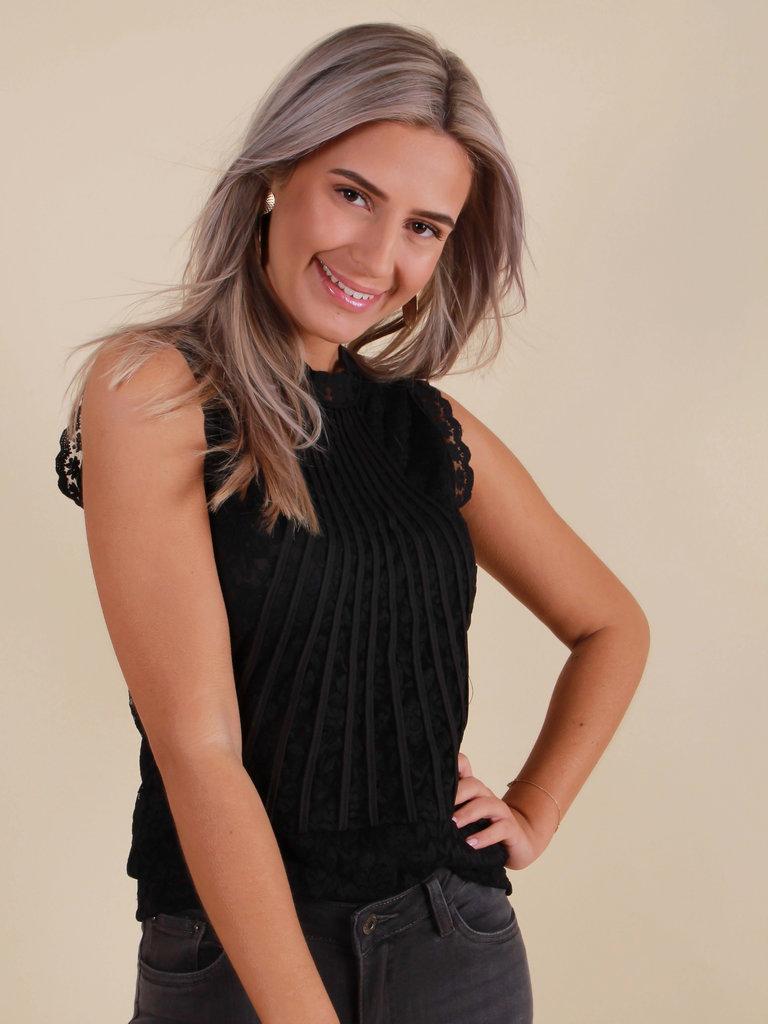 VOYELLES Top Lace Black