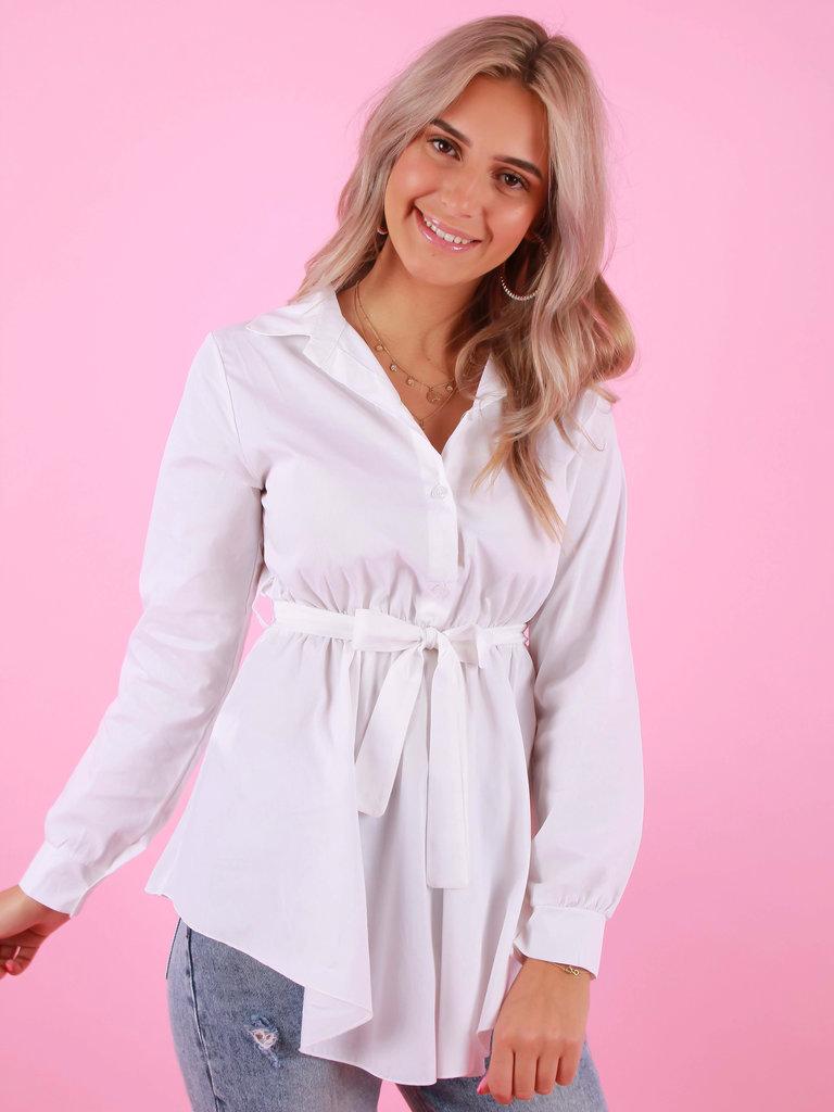 Vanessa Nucci Waist Blouse White