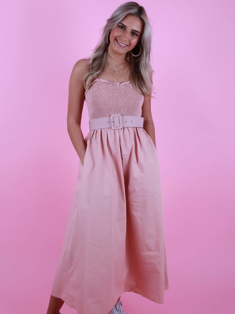 CIMINY Bandeau Dress Rose