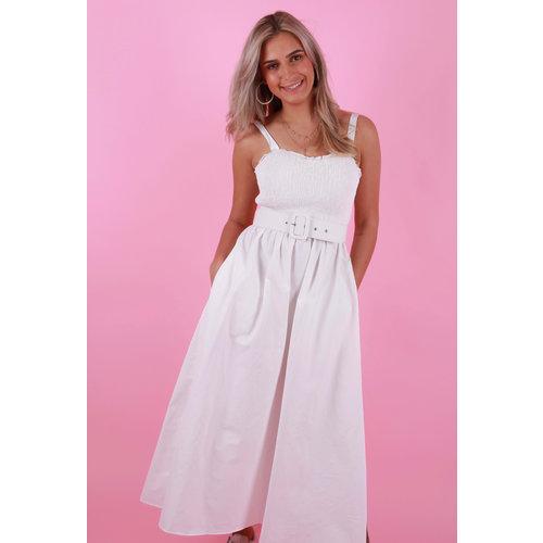 CIMINY Bandeau Dress White
