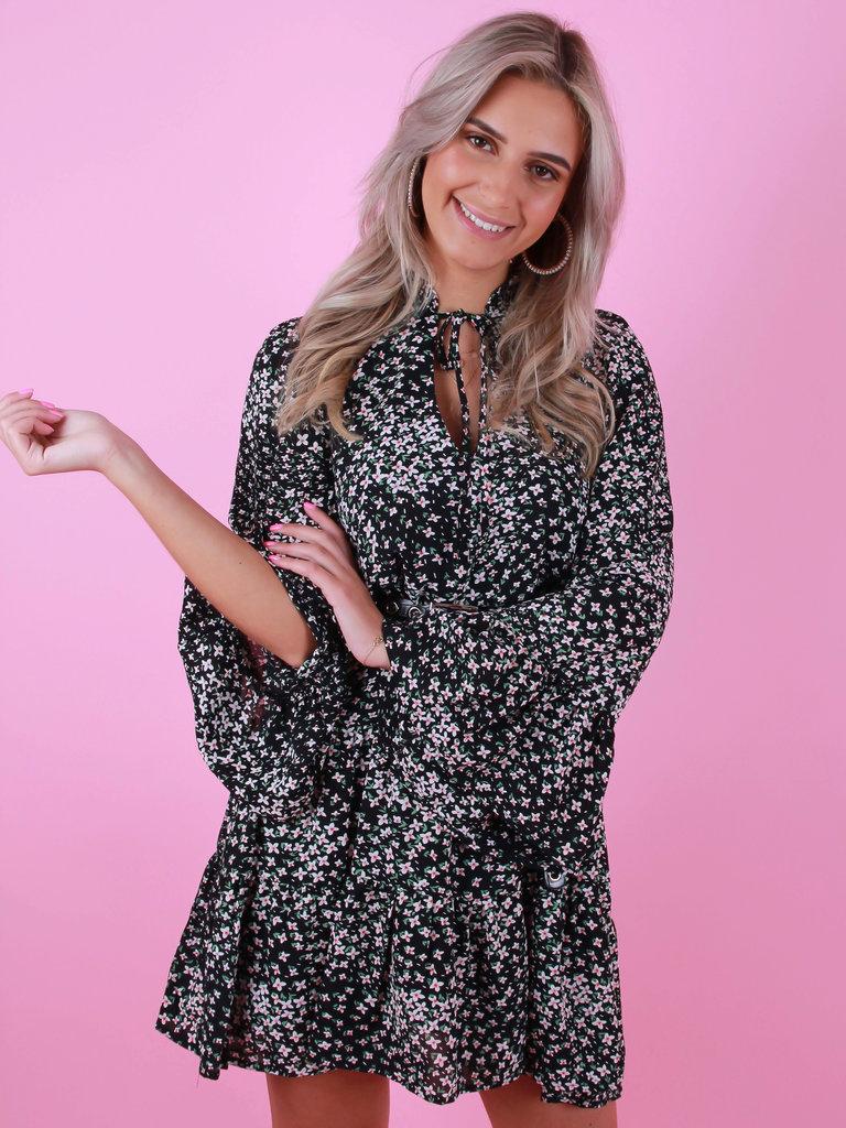 ELLI WHITE Ruffled Dress Black