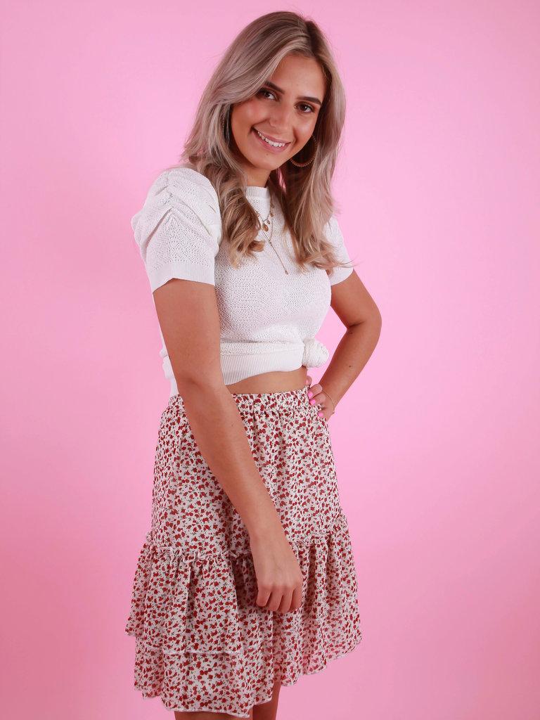 RETRO ICONE Ruffled Skirt Roses