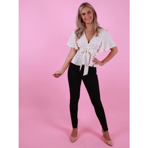 CINDY H The High Waist Jeans Zwart