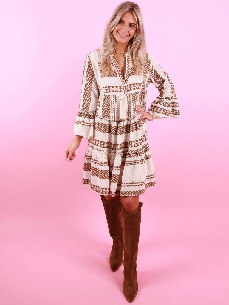 LADYLIKE FASHION Summer Dress Brown
