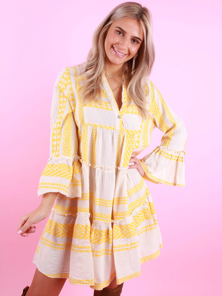 LADYLIKE FASHION Summer Dress Yellow
