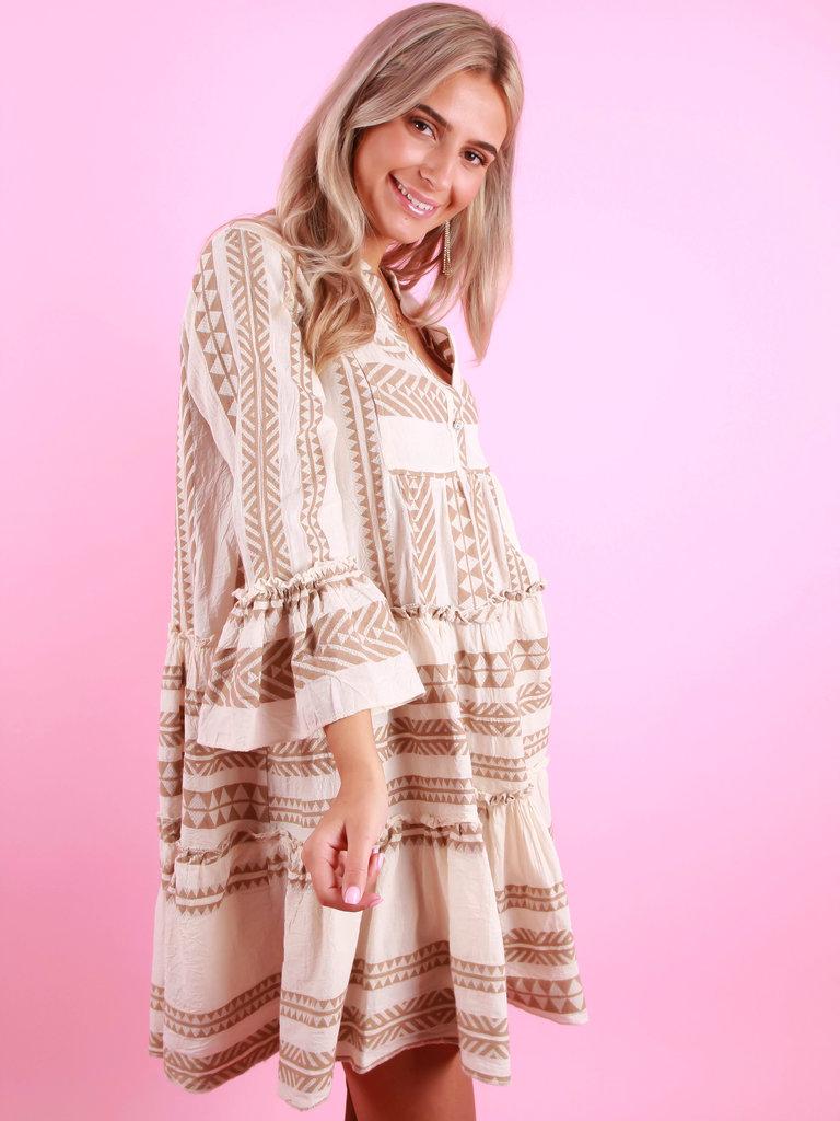 LADYLIKE FASHION Summer Dress Beige