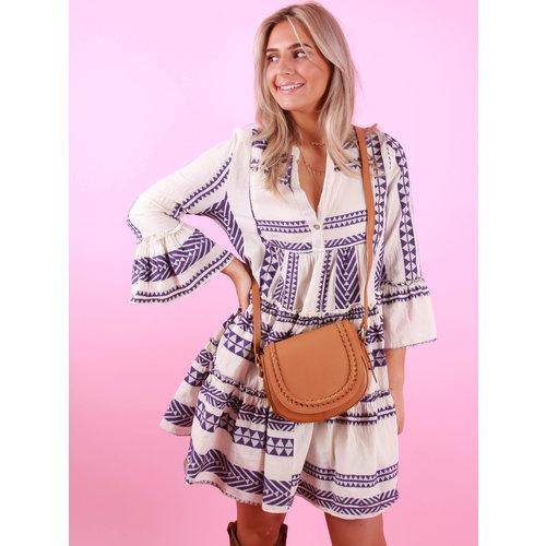 TEATRO Leather Chelsea Bag Camel