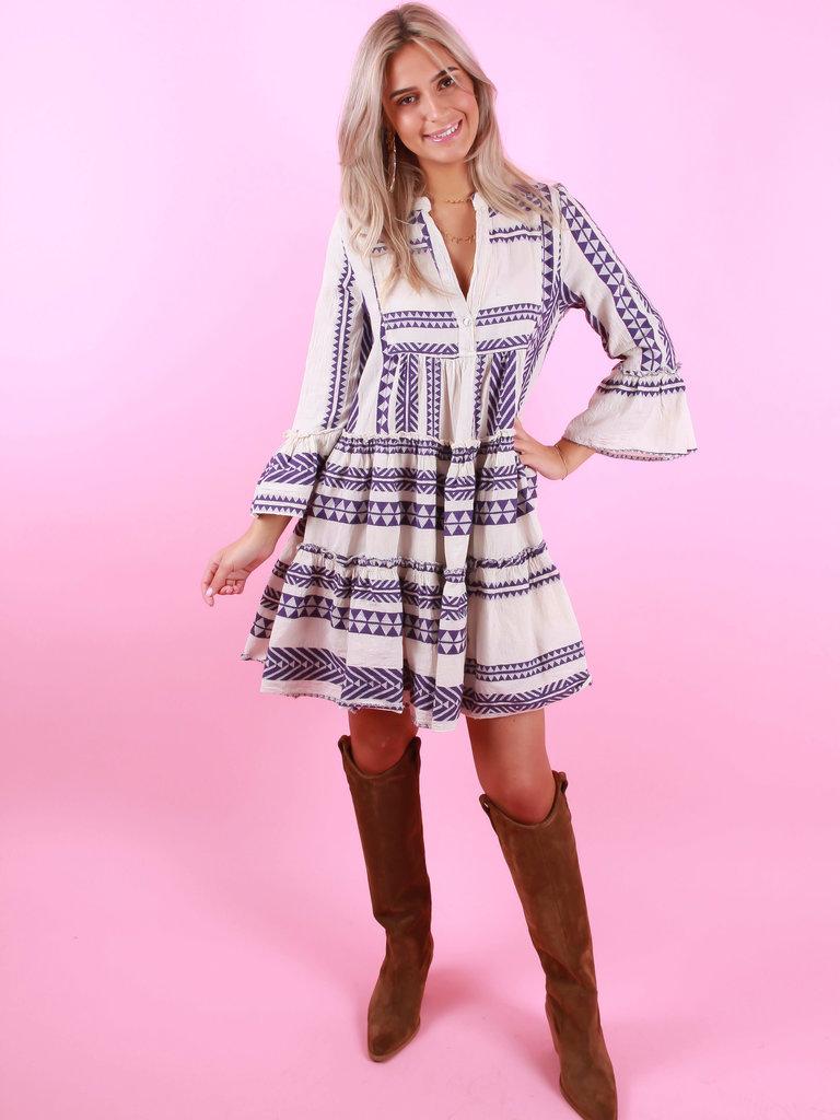 LADYLIKE FASHION Summer Dress Purple