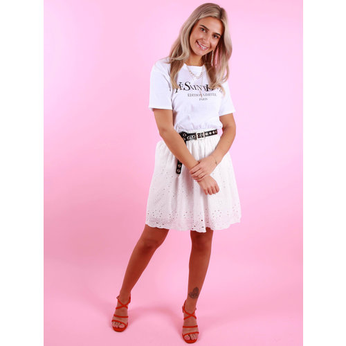 LILIE ROSE Broderie Anglaise Skirt White