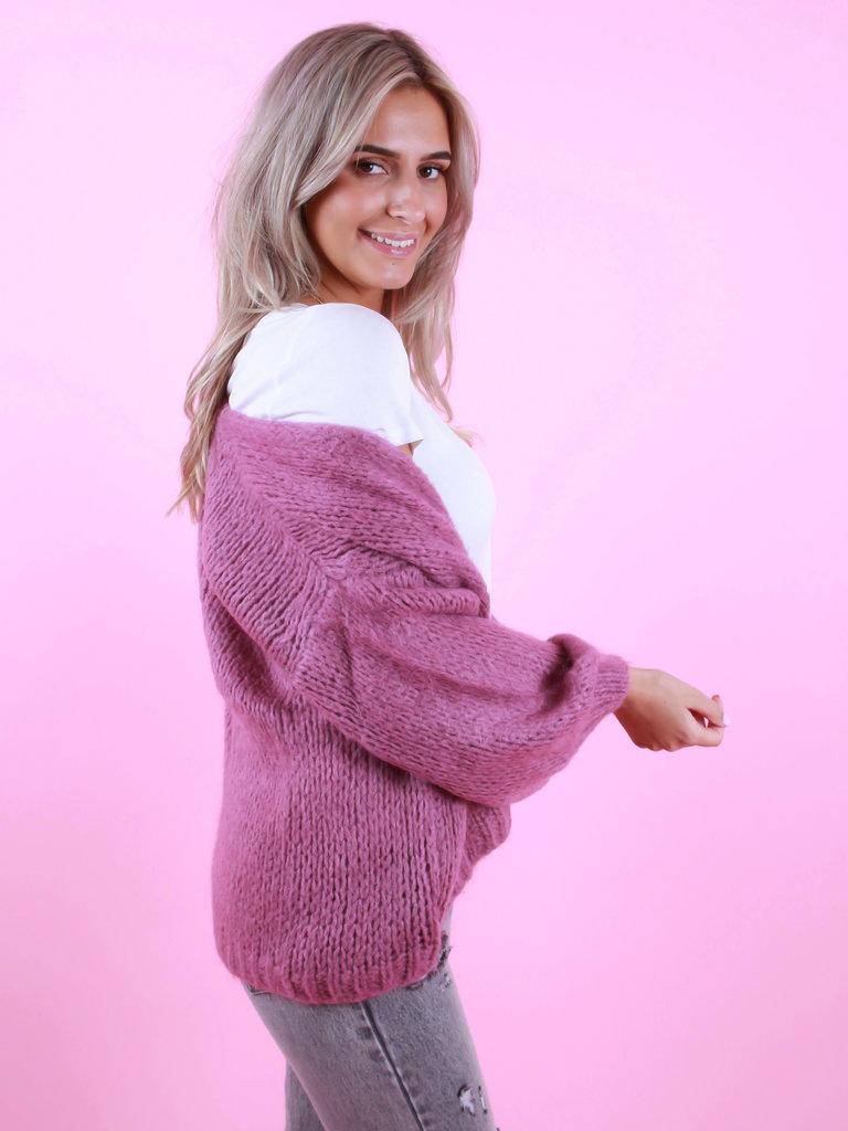 ALEXANDRE LAURENT Knitted Cardigan Purple