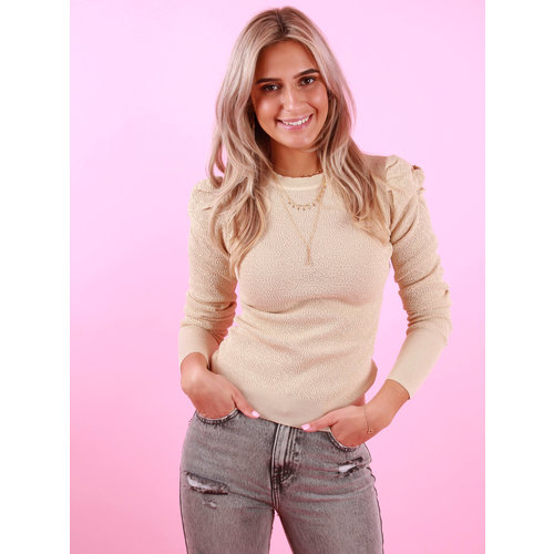 LUC & CE Long Sleeve Jumper Beige