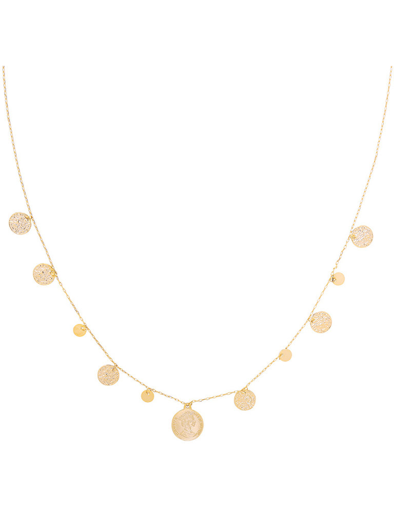 YEHWANG Necklace Royal Coins & Rounds Gold