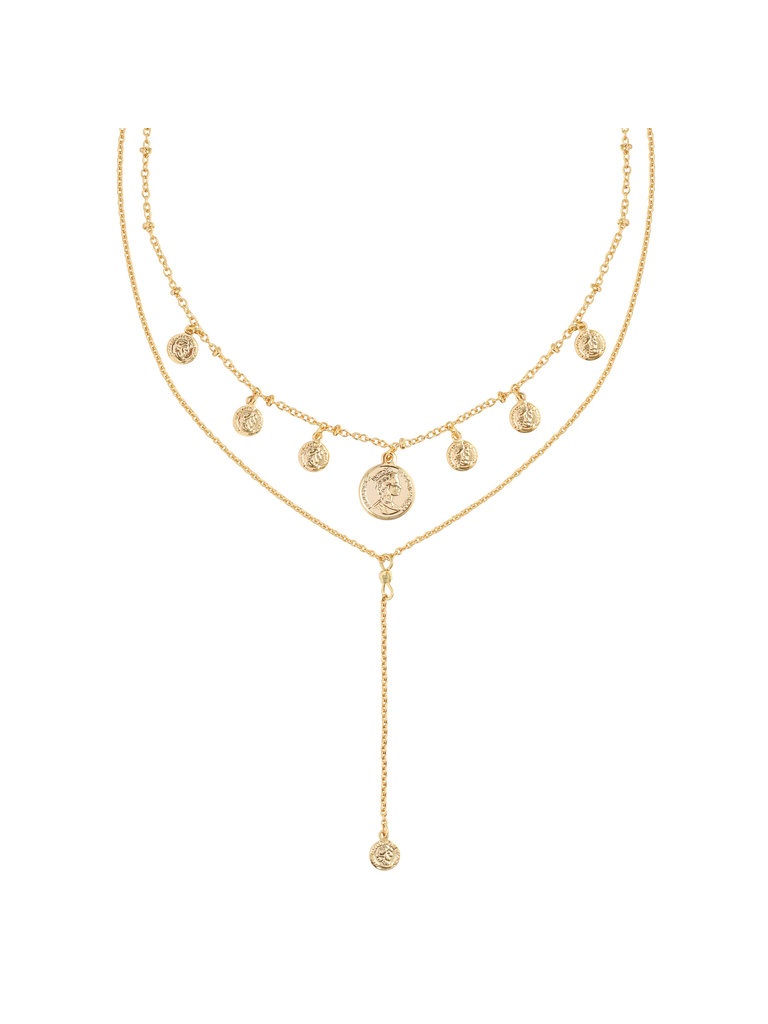 YEHWANG Necklace Coin & Layers