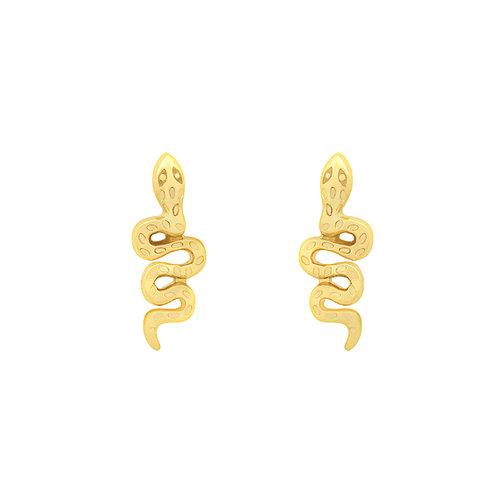 YEHWANG Stud Earrings Hiss Gold