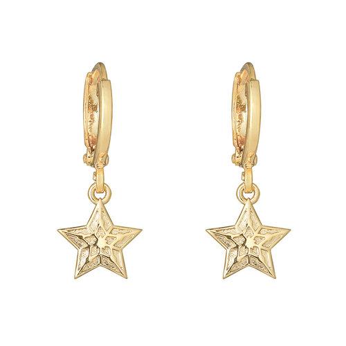 YEHWANG Earrings Sparkling Star Gold