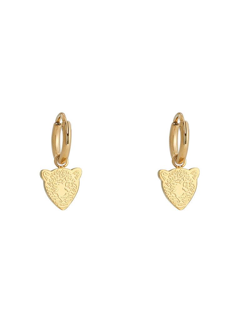 YEHWANG Earrings Famous Leopard