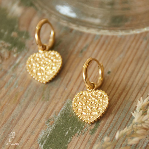 YEHWANG Earrings My Gold Heart