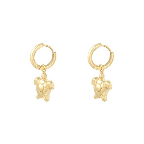 YEHWANG Earrings Under Water Turtle