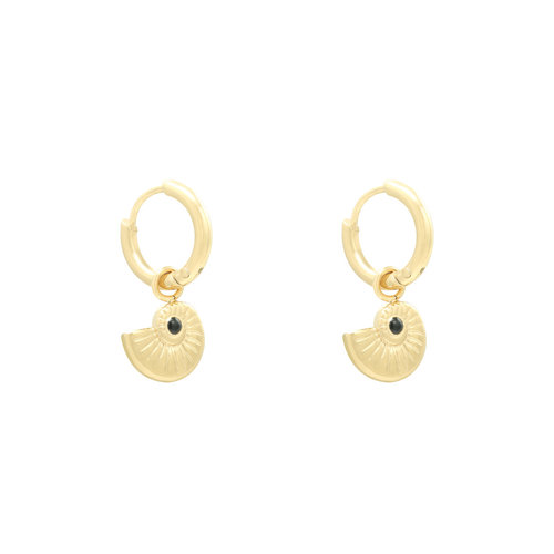 LADYLIKE Earrings Shell Around Gold