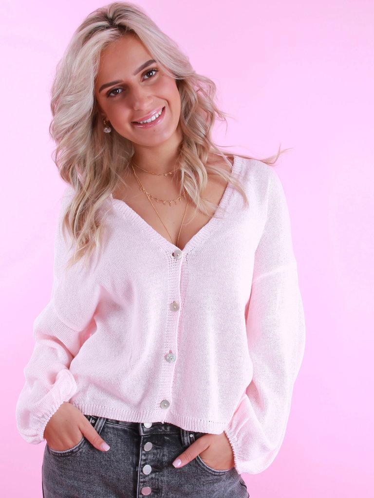 ALEXANDRE LAURENT Summer Cardigan Baby Pink