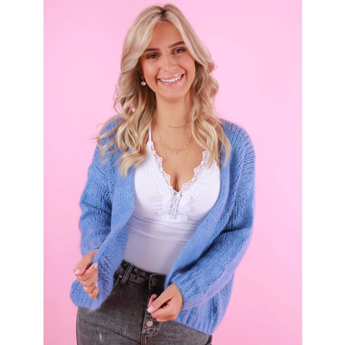 ALEXANDRE LAURENT Knitted Cardigan Sky Blue