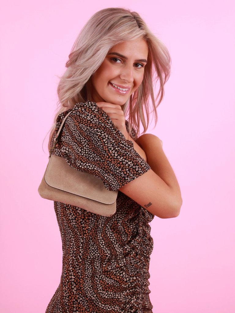 TEATRO Yola - Beige - Suede - Crossbody Bag