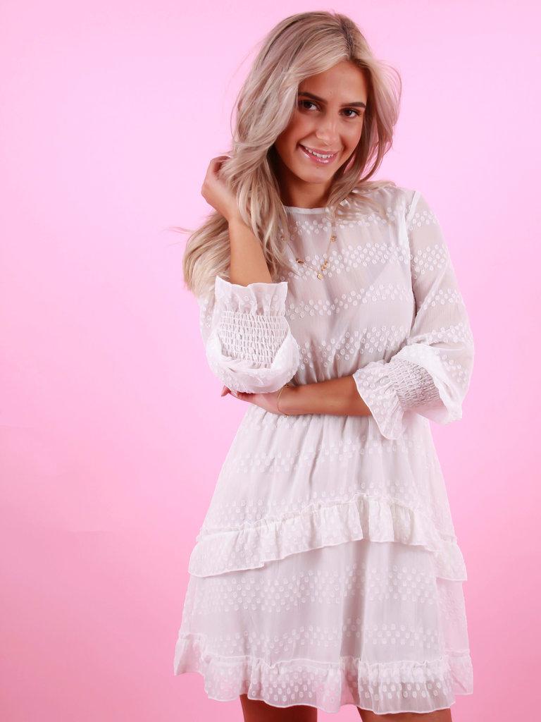 BY CLARA Sheer Dress White