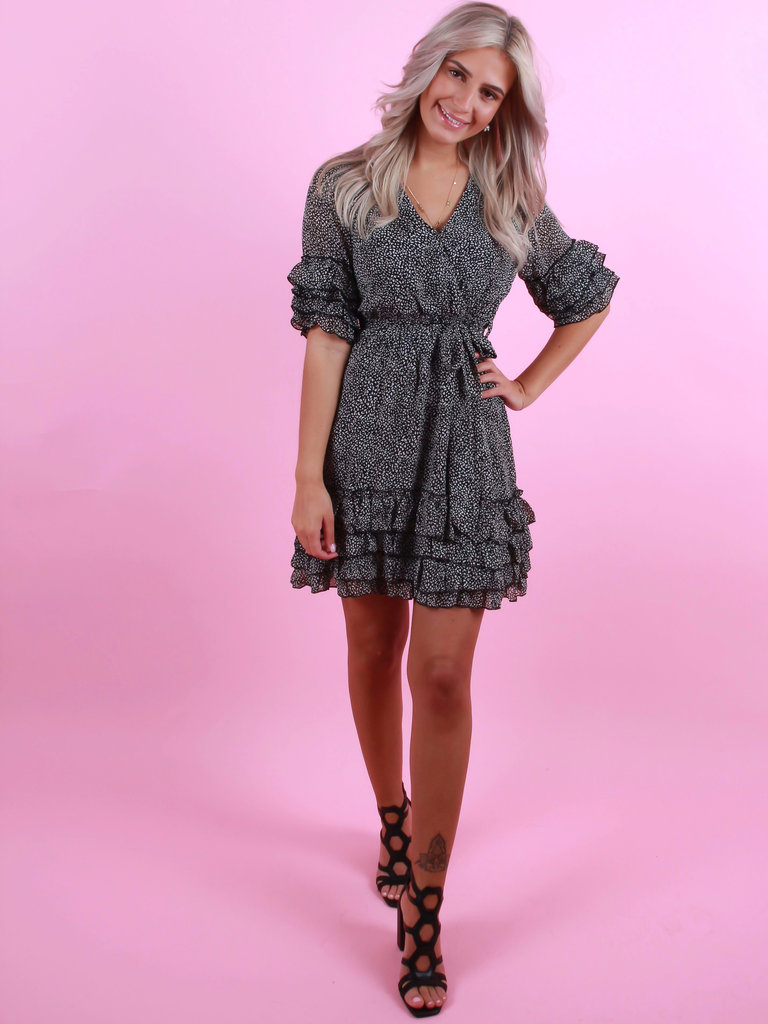 BY CLARA Cute Dress Dots Black
