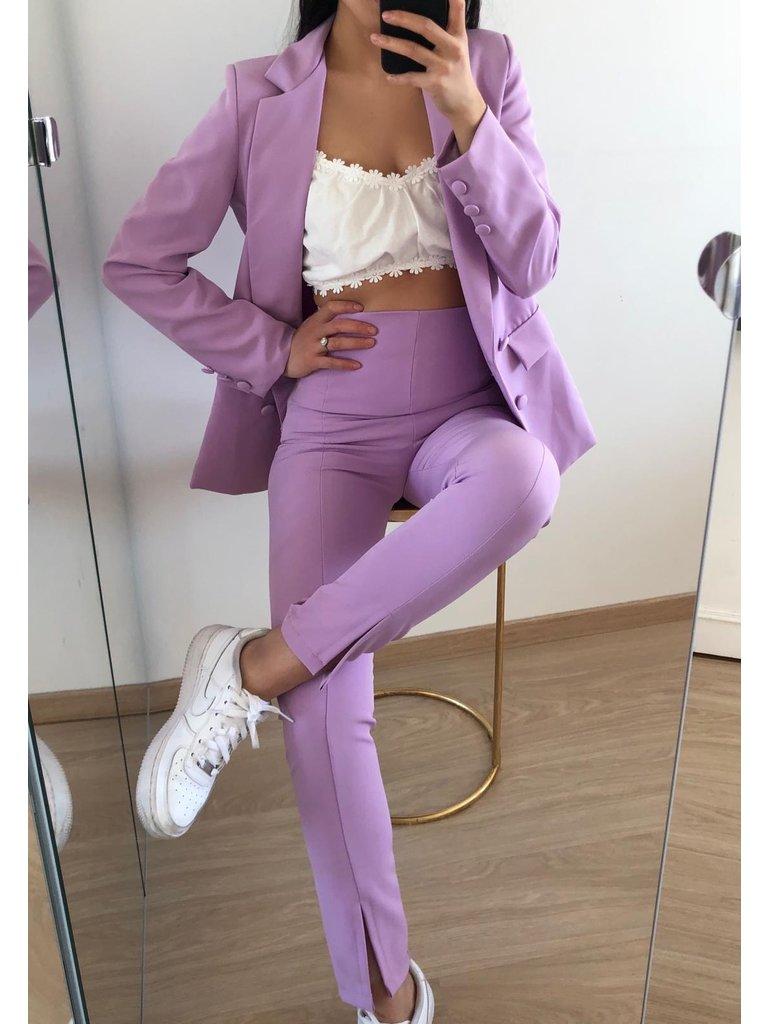 EIGHT PARIS Split Trousers Purple