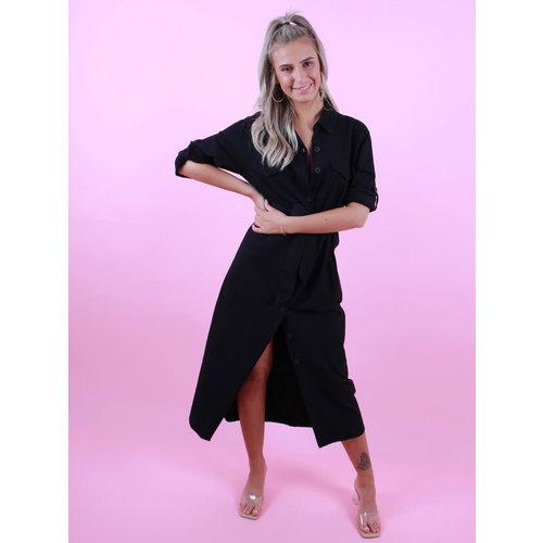 CIMINY Maxi Utility Dress Black