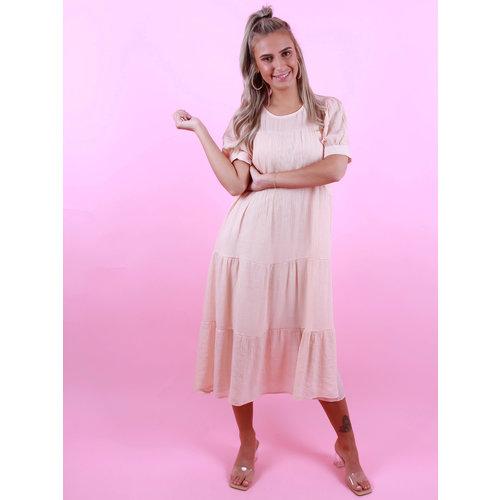 VOYELLES Oversized Dress Peach