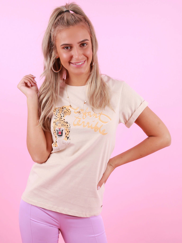 AMBIKA T-Shirt Lion Beige