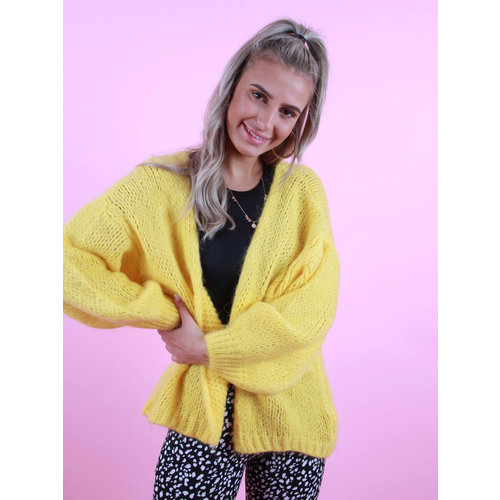 MIKA ELLES Knitted Cardigan Yellow