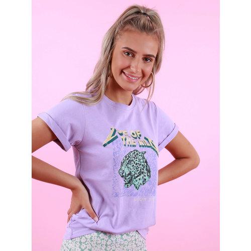 AMBIKA Love Of The Wild Shirt Purple