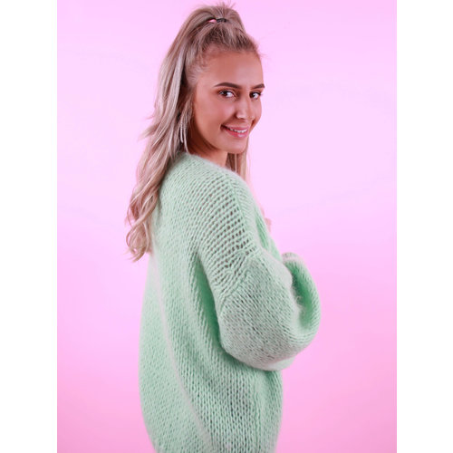MIKA ELLES Knitted Cardigan Mint
