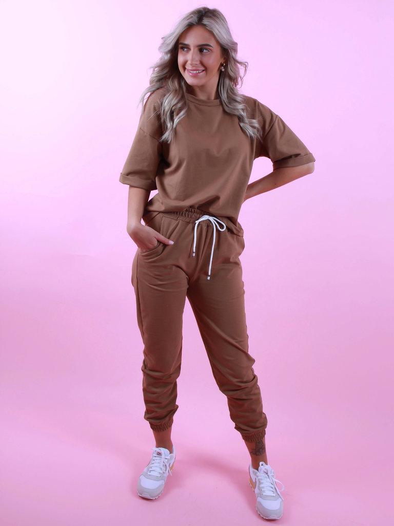 LADYLIKE FASHION Jogger Camel