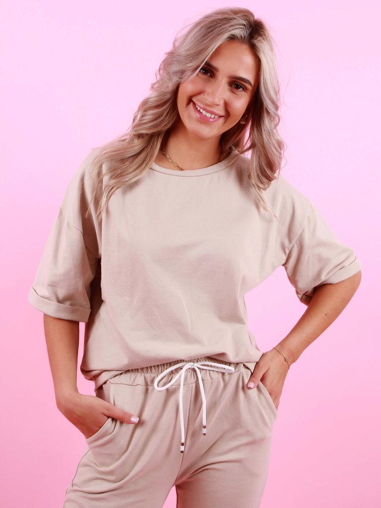 LADYLIKE FASHION Shirt Beige