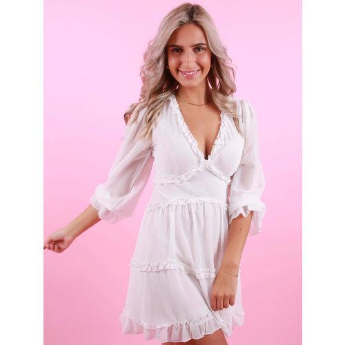 JUS DE POM Summer Dress Open Back White