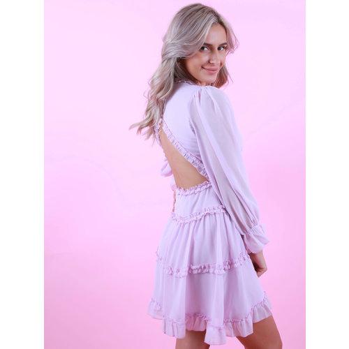 JUS DE POM Summer Dress Open Back Lilac